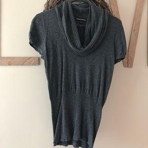 Express short sleeve cowlneck sweater